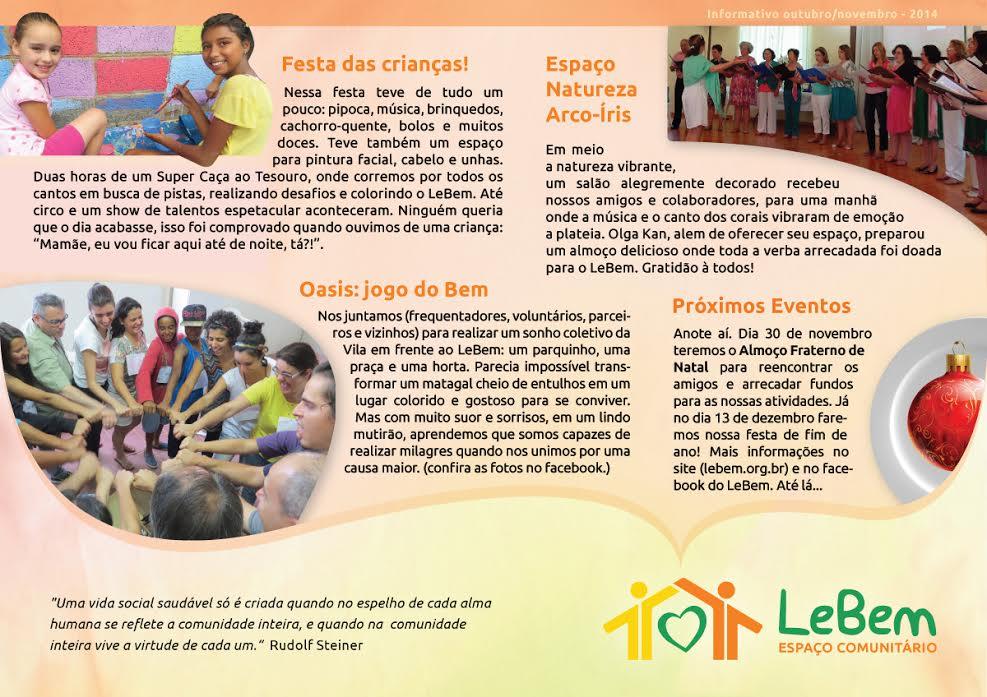informativo LeBem out-nov 2014
